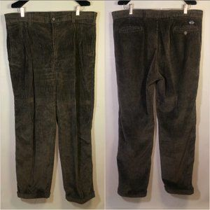 VTG 1980s Corduroy Pants Trousers Pleated Cuffed